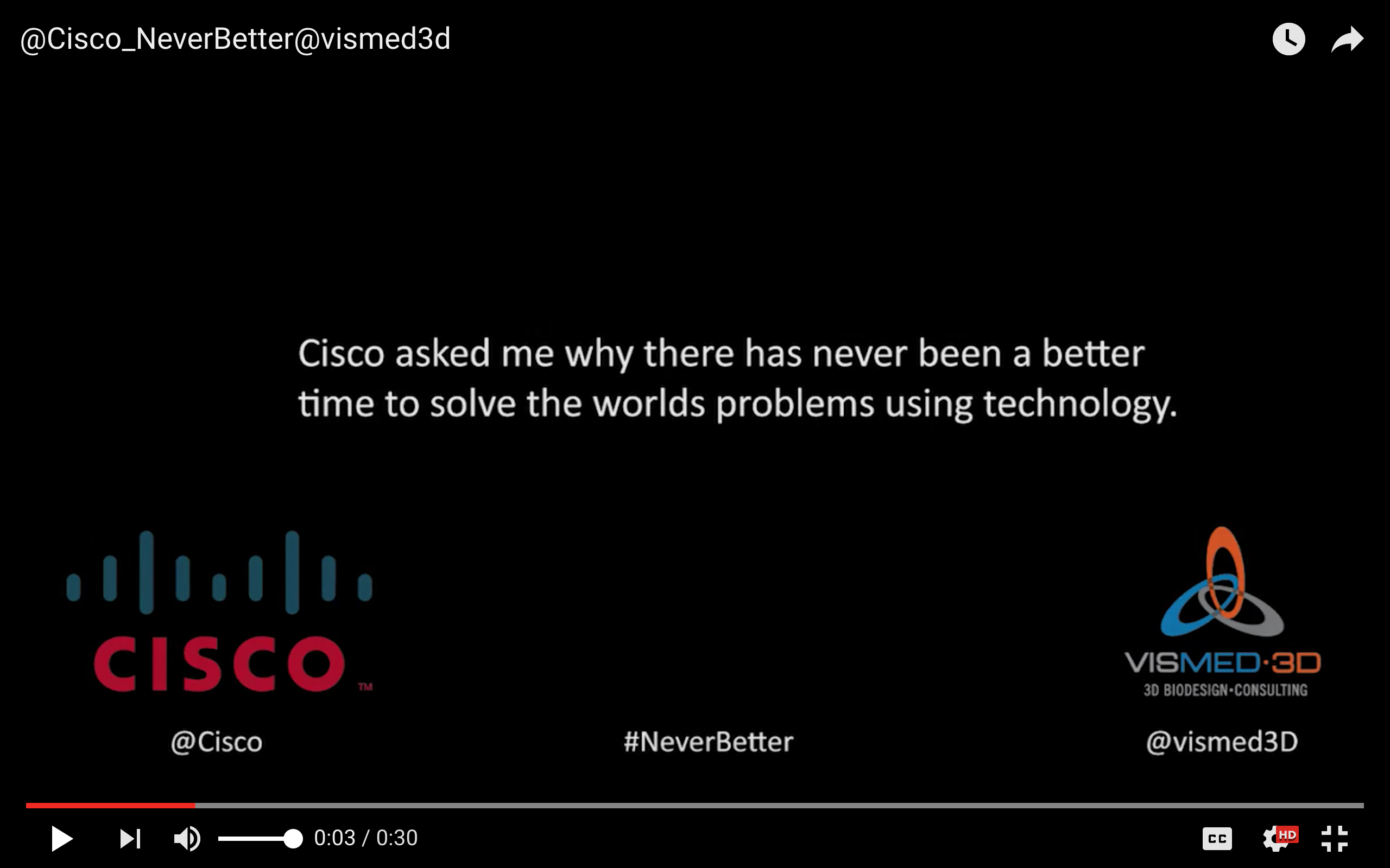 Cisco #NeverBetter @VisMed3D