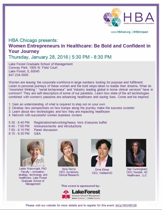 Healthcare Women's Business Association Event